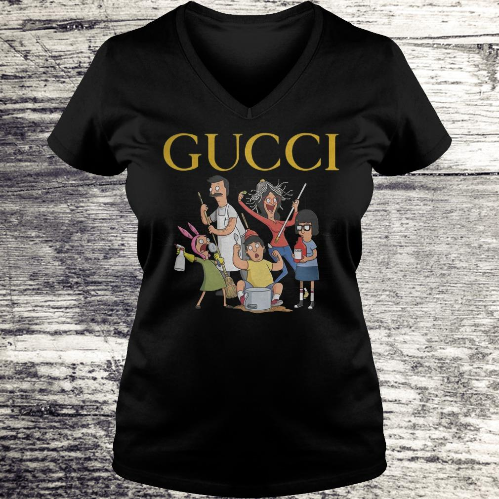 Bobs Burgers Gucci Shirt Ladies V-Neck