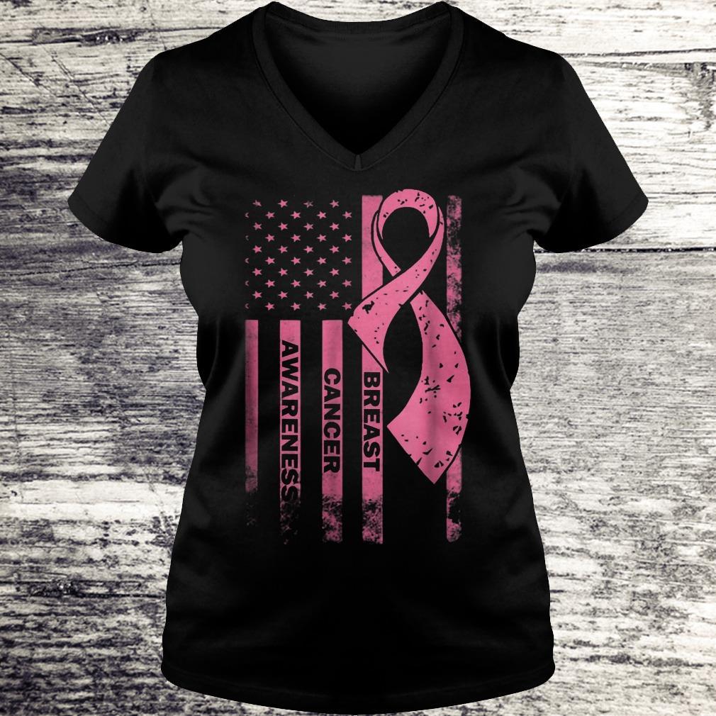 Breast cancer awareness Shirt Ladies V-Neck