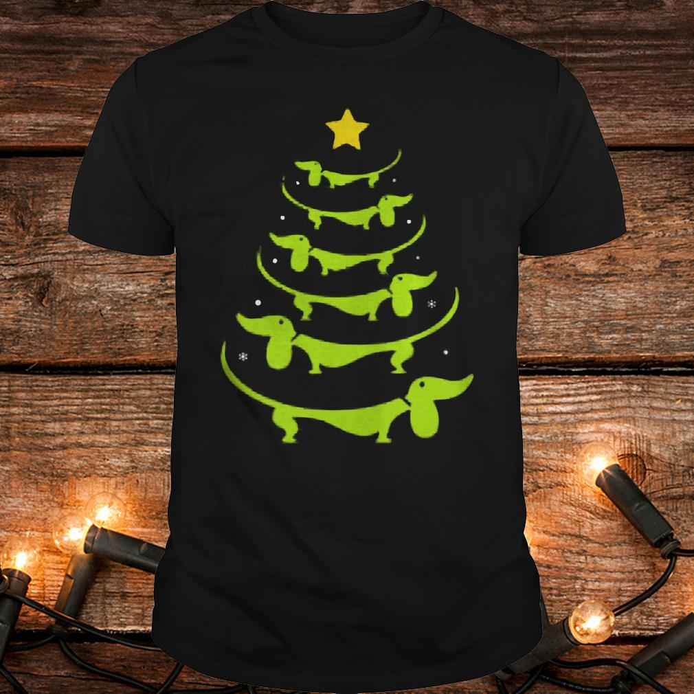 Dachshund Christmas tree ugly sweatshirt Shirt