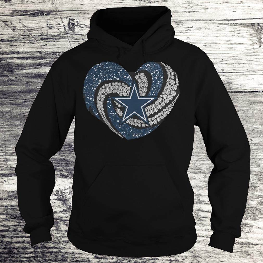 Dallas Cowboys glitter diamond heart Shirt Hoodie