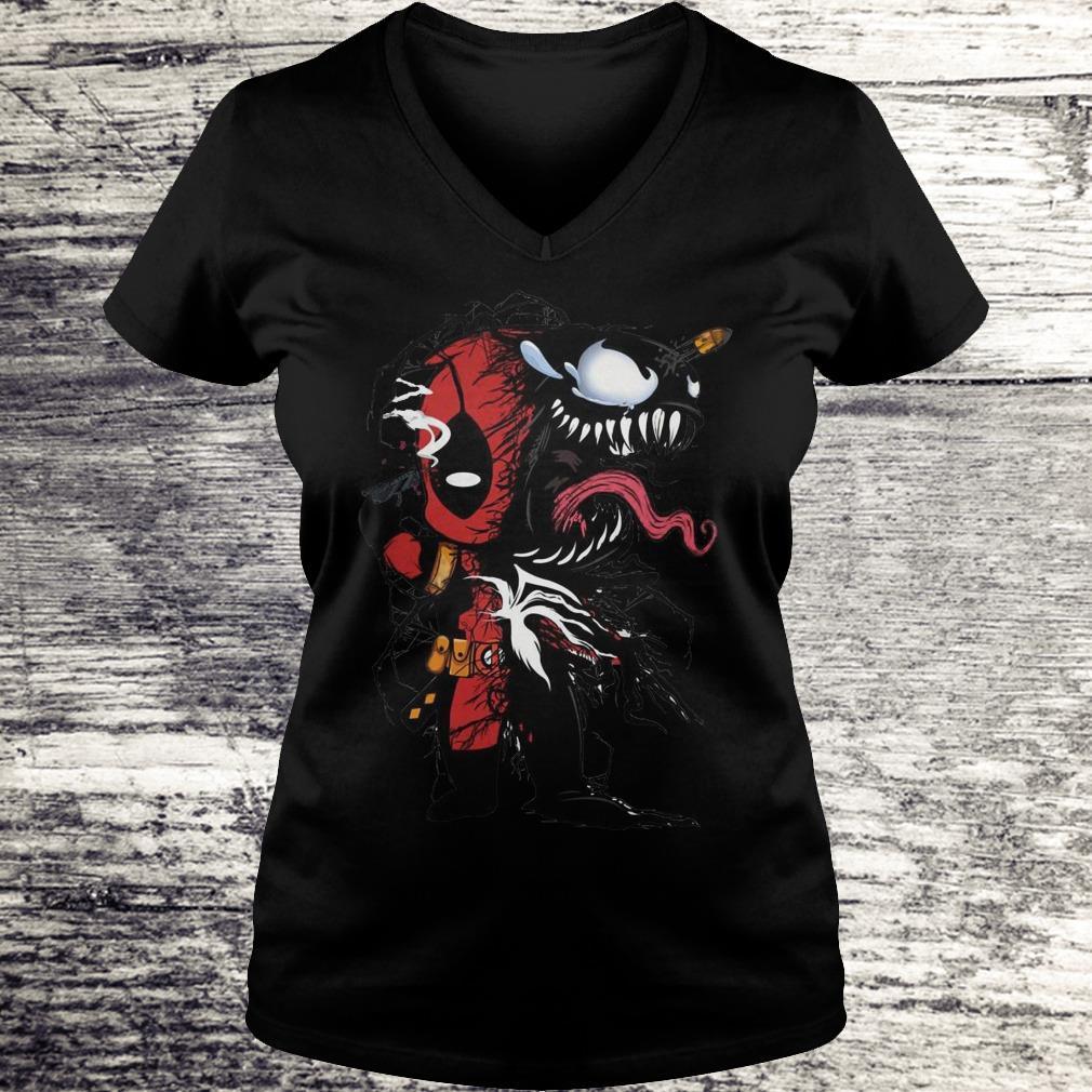 Deadpool Venom Mashup Sweatshirt Ladies V-Neck