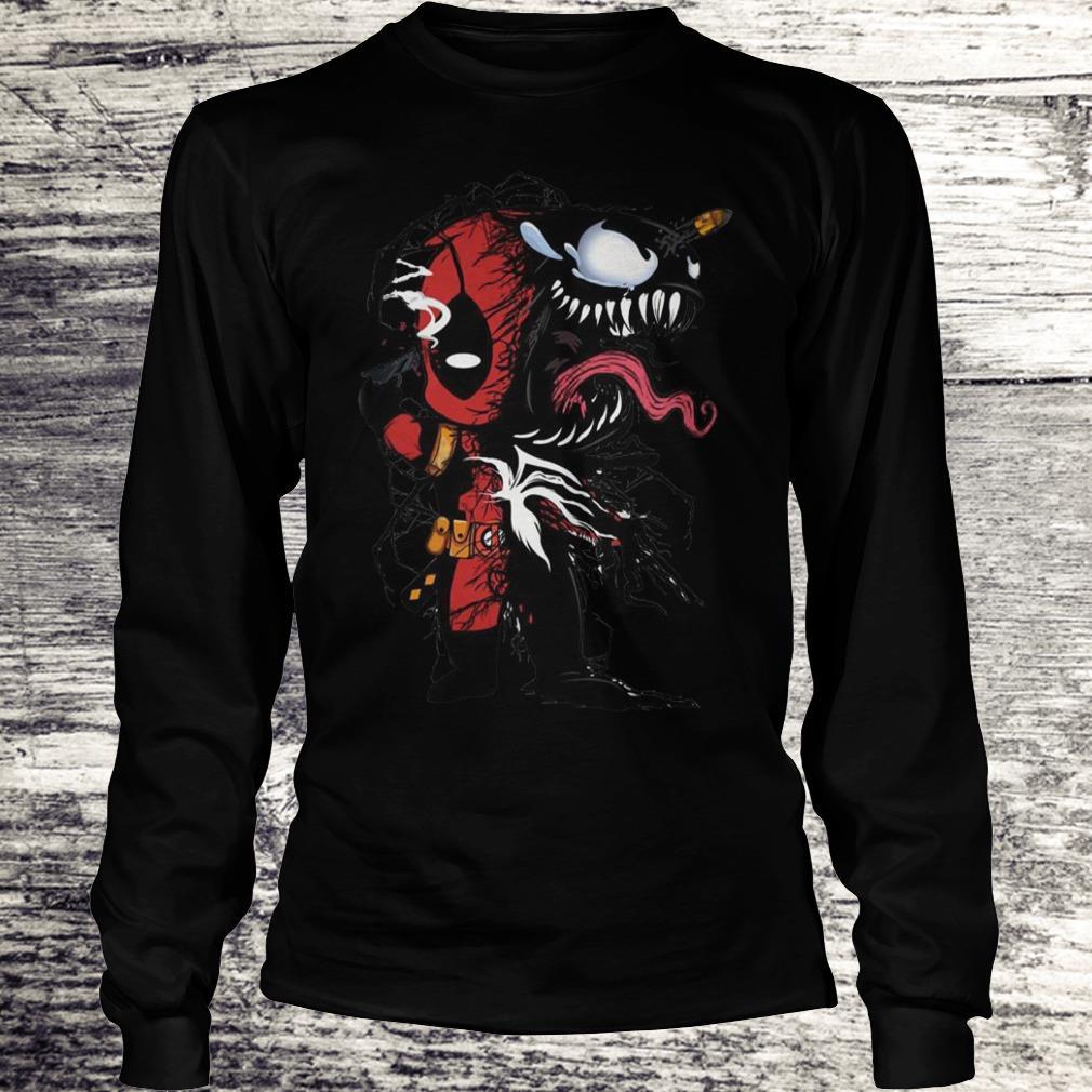 Deadpool Venom Mashup Sweatshirt Longsleeve Tee Unisex