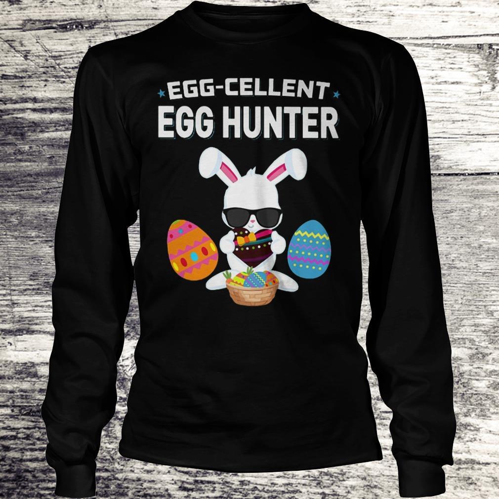 Egg-Cellent Egg Hunter Funny Easter Outfit Boys Girls Shirt Longsleeve Tee Unisex