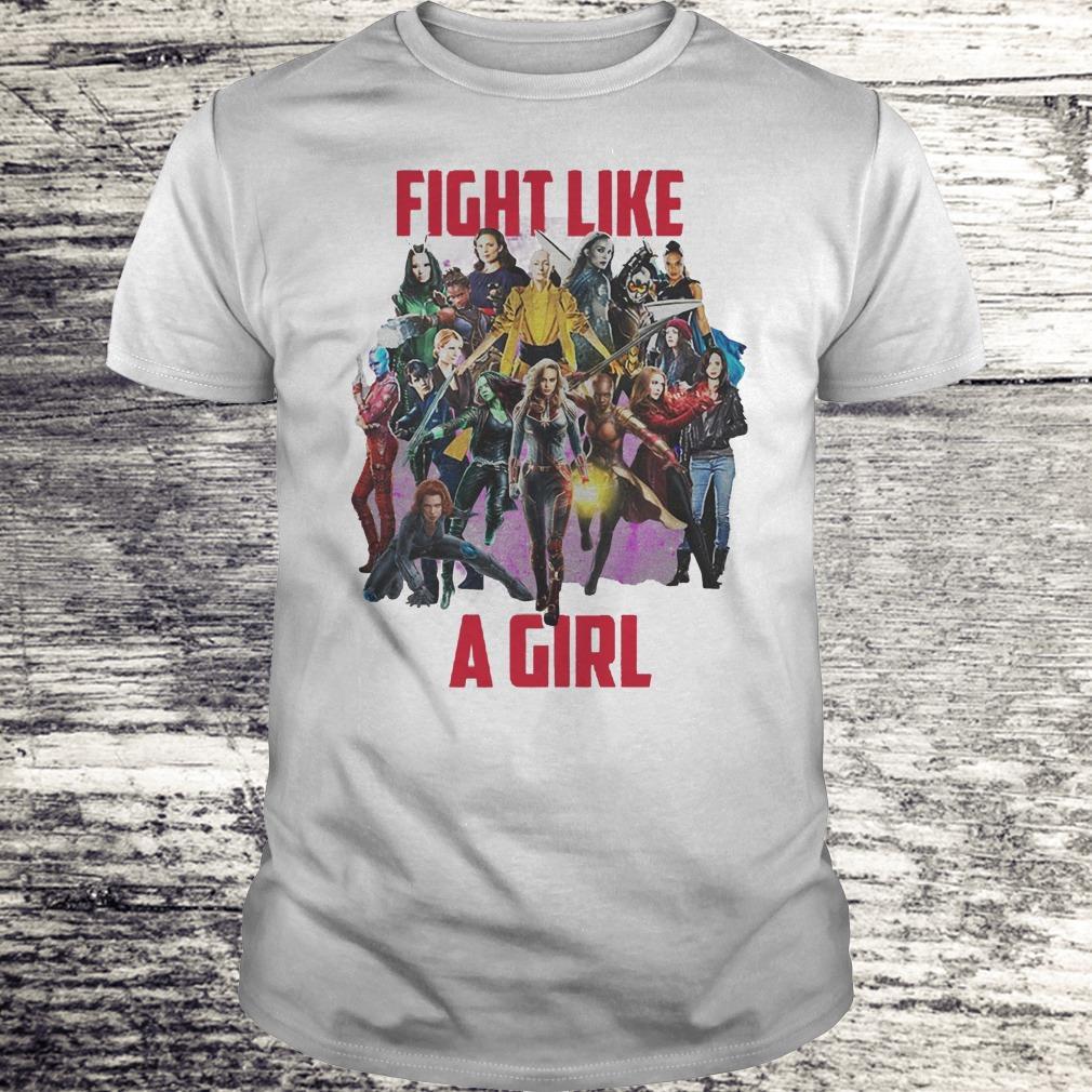 Fight Like A Girl Captain Marvel Girls Shirt Classic Guys Unisex Tee.jpg