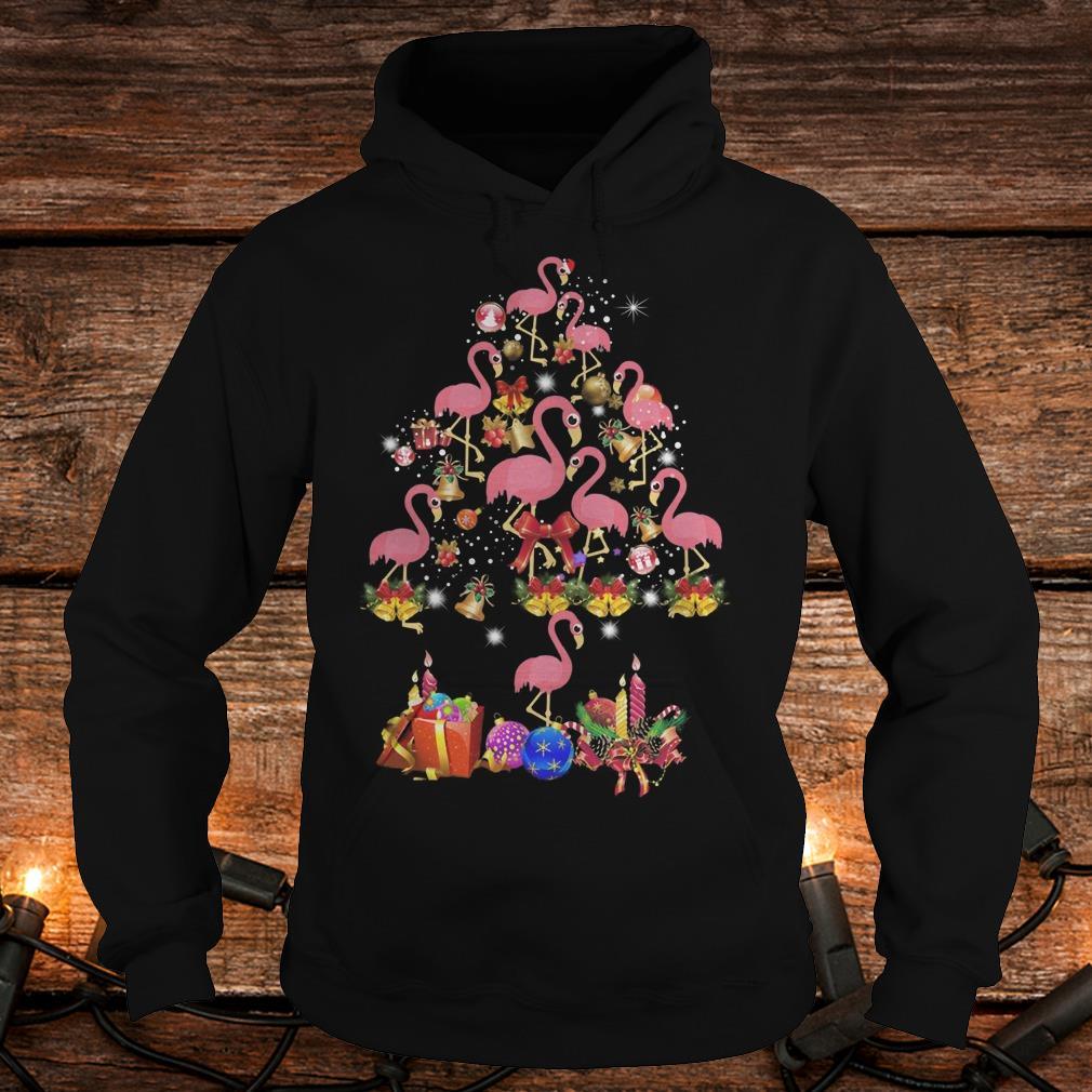 Flamingo Christmas Tree sweater Shirt Hoodie