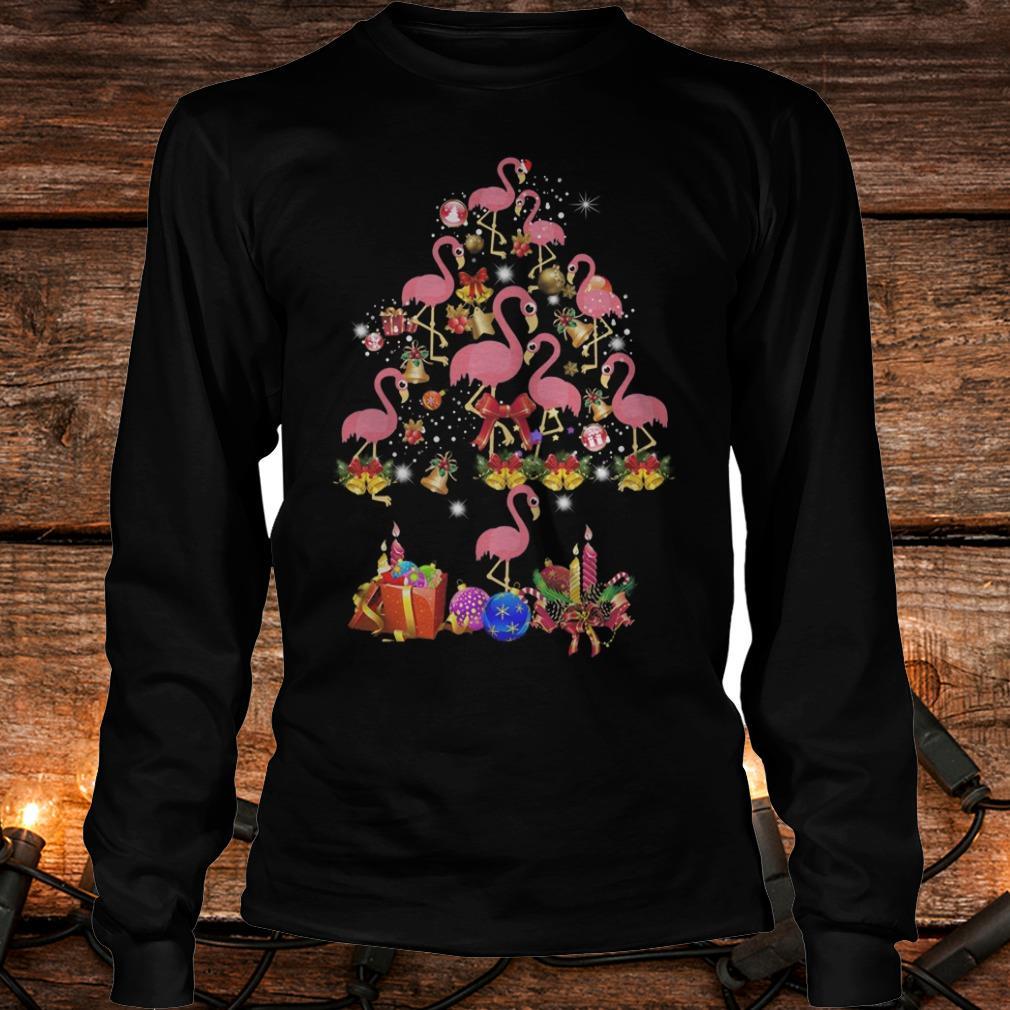 Flamingo Christmas Tree sweater Shirt Longsleeve Tee Unisex