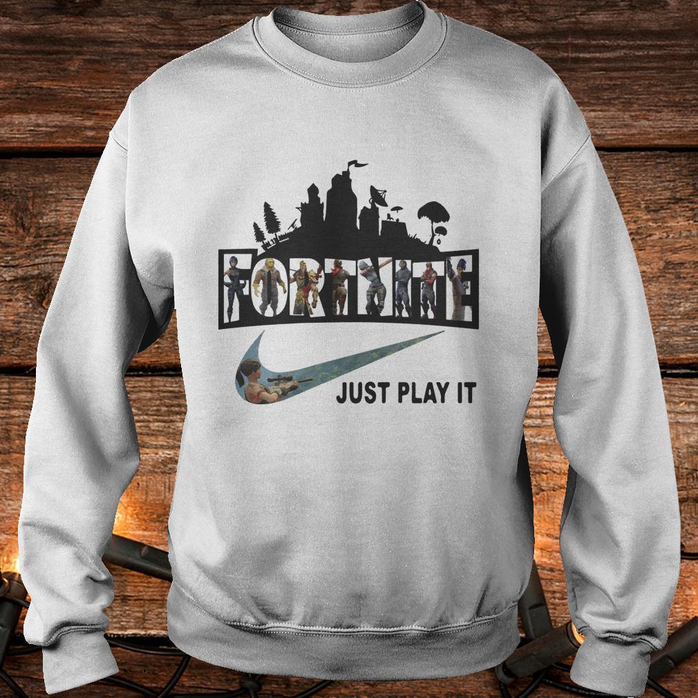 Fortnite Battle Royale Nike just play it Shirt - Premium ...