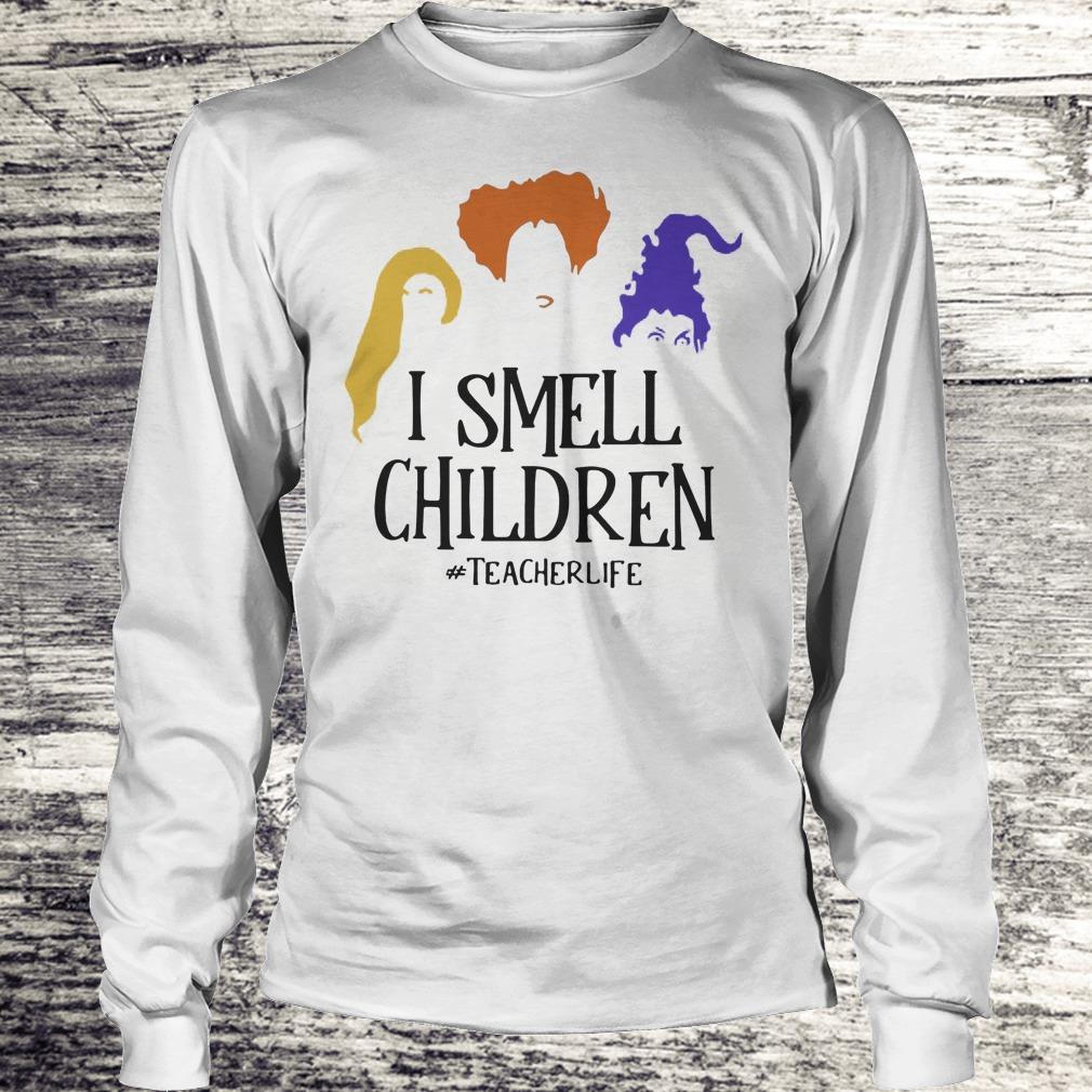 Halloween Hocus Pocus I smell children teacher life Shirt Longsleeve Tee Unisex