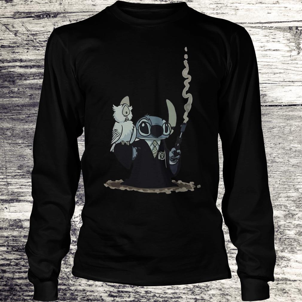 Harry Potter Hedwig And Stitch Mashup Shirt Longsleeve Tee Unisex