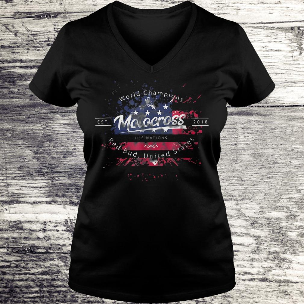 Hot World champion motocross des nations red bud united states Shirt Ladies V-Neck