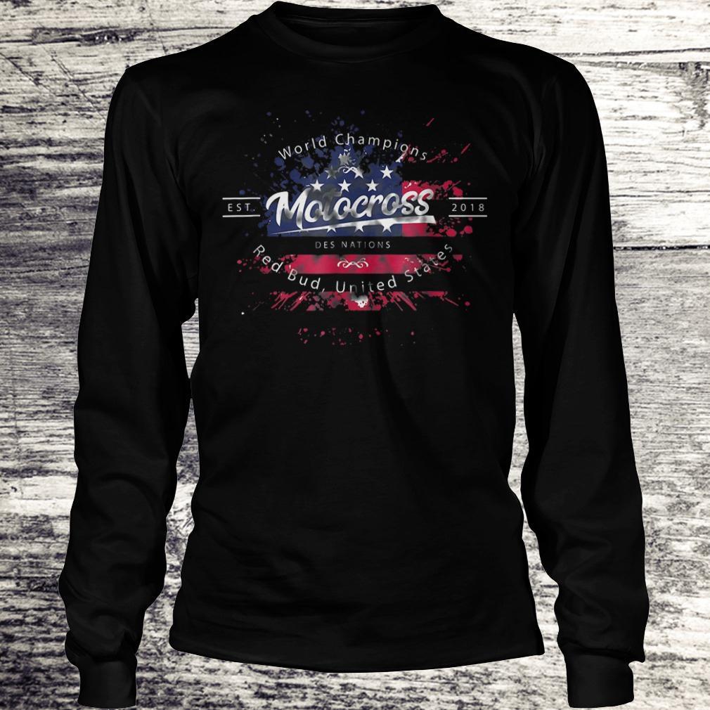 Hot World champion motocross des nations red bud united states Shirt Longsleeve Tee Unisex