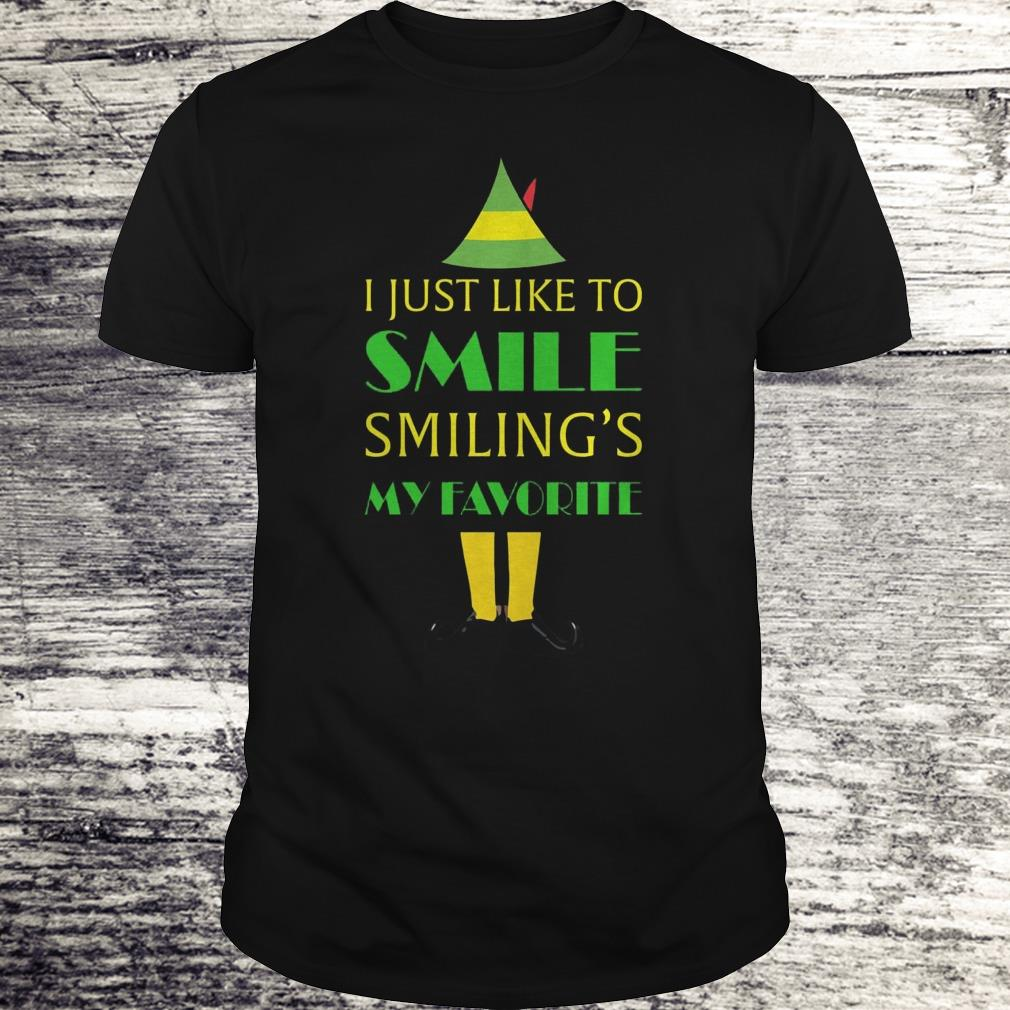 I Just Like Smile Elf Smiling S My Favorite Shirt Classic Guys Unisex Tee.jpg