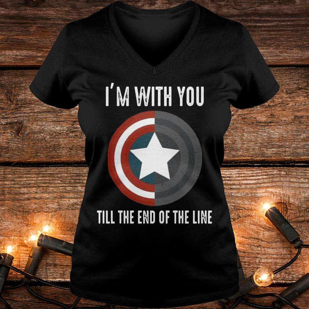 I'm with you till the end of the line Shirt Ladies V-Neck
