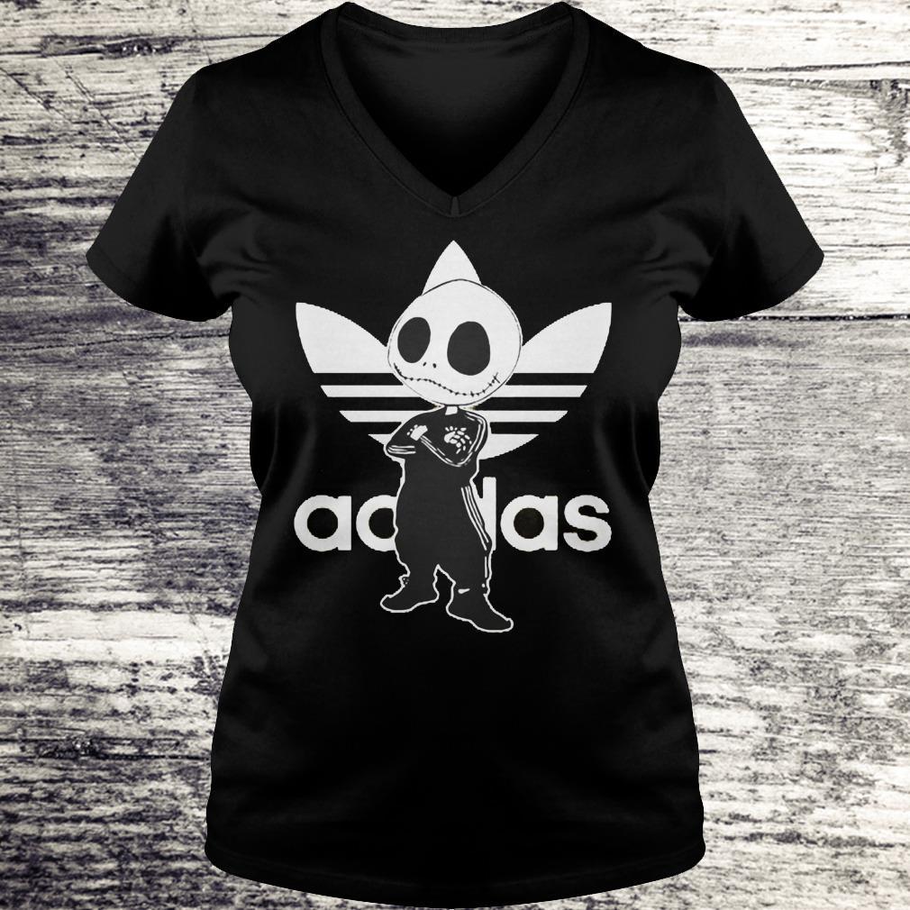 Jack Skellington adidas Shirt Ladies V-Neck