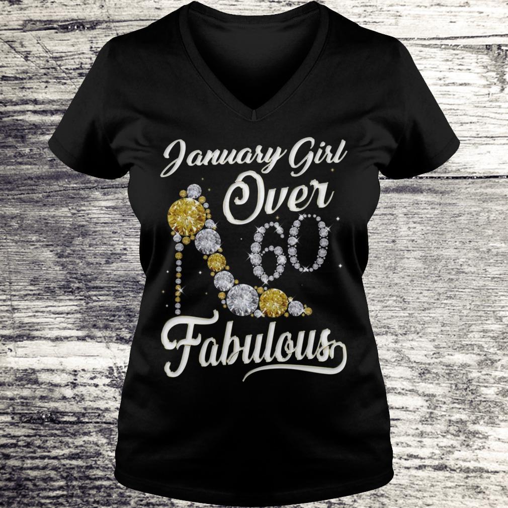 January Girl Over 60 And Fabulous Sweatshirt Ladies V-Neck