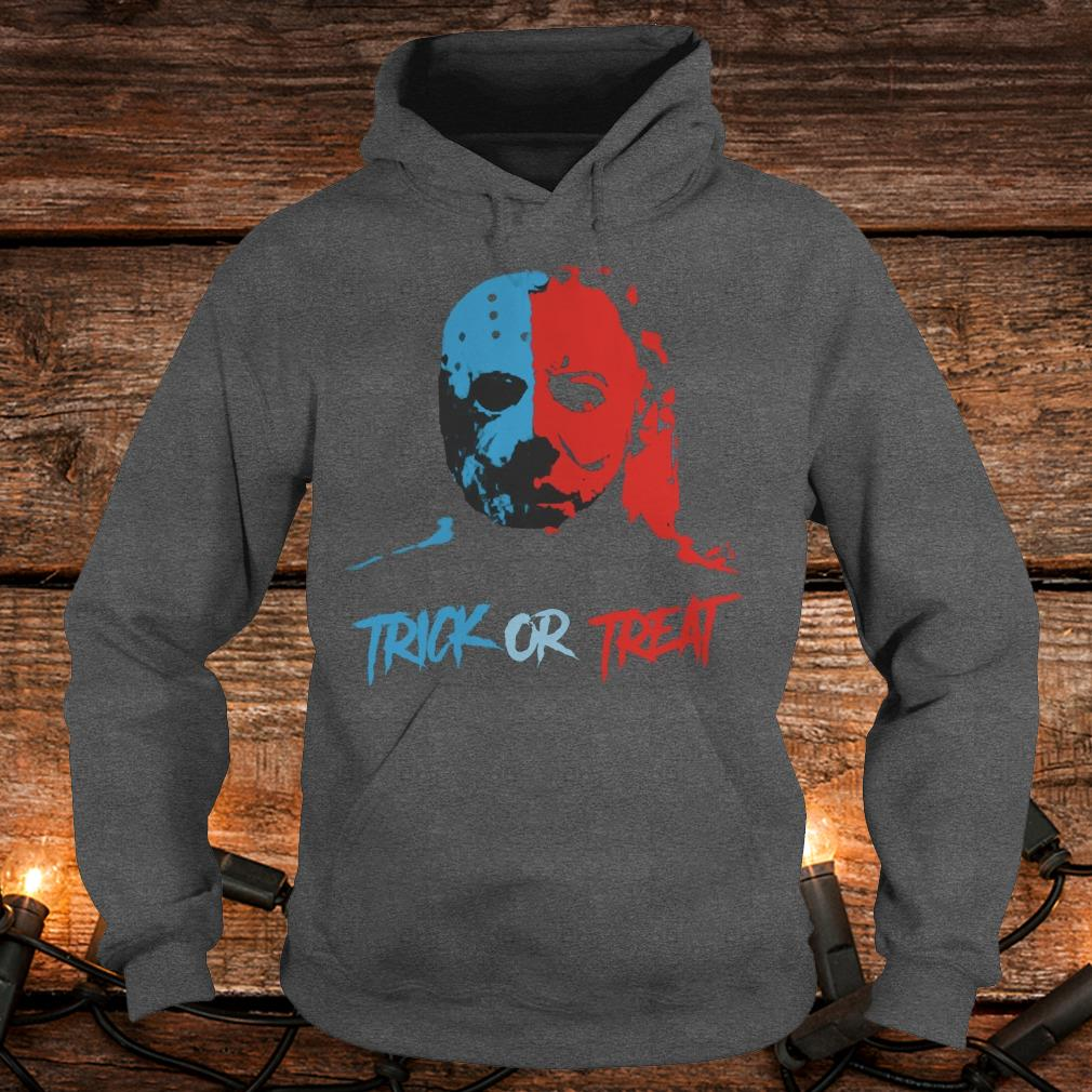 Jason Voorhees and Michael Myers Trick or Treat Shirt Hoodie