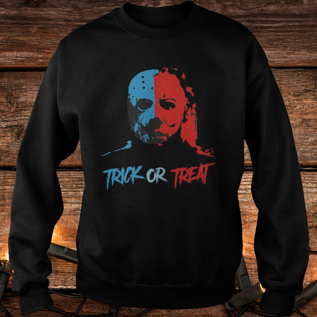 Jason Voorhees and Michael Myers Trick or Treat Shirt Sweatshirt Unisex