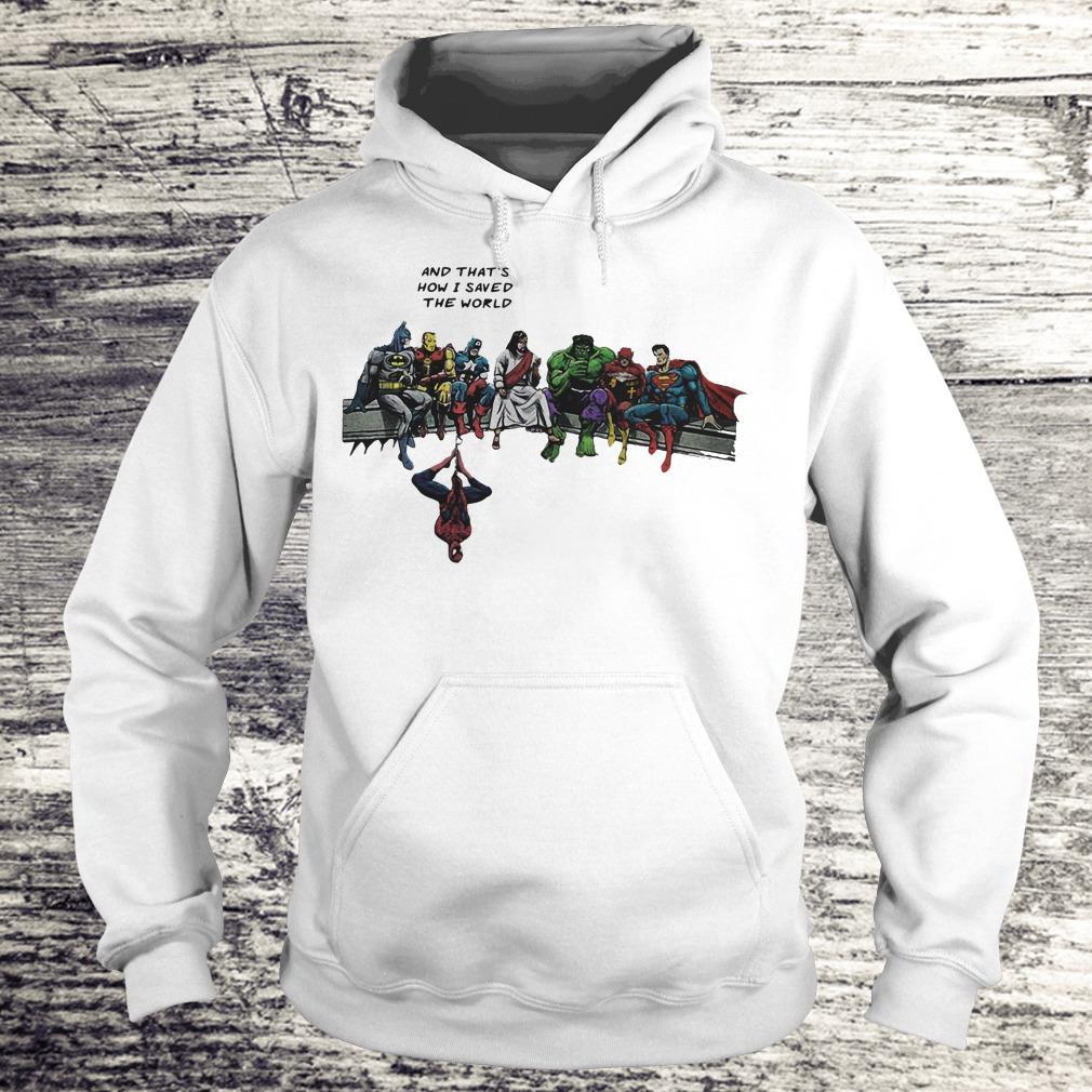 Jesus And Superheroes Shirt Hoodie