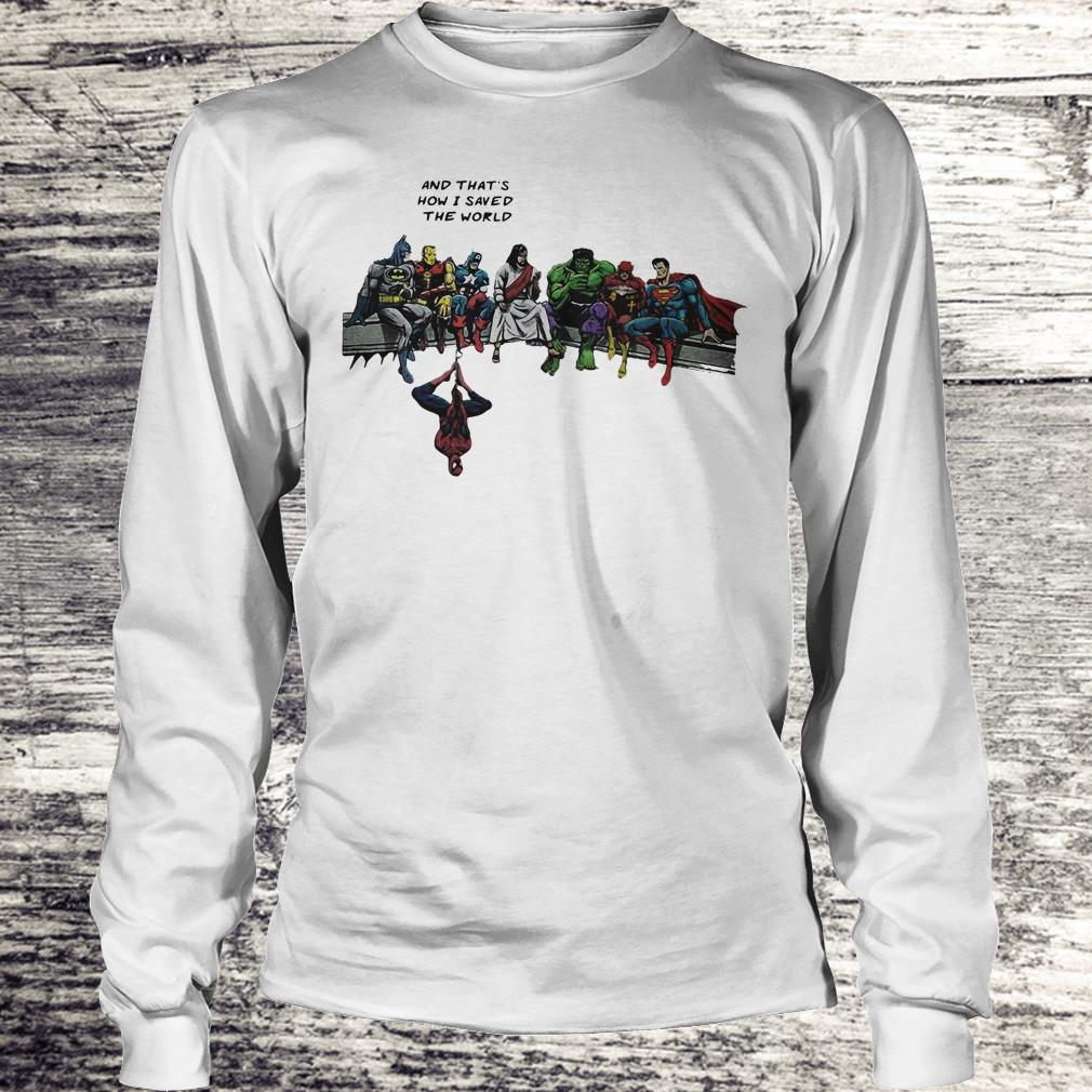 Jesus And Superheroes Shirt Longsleeve Tee Unisex