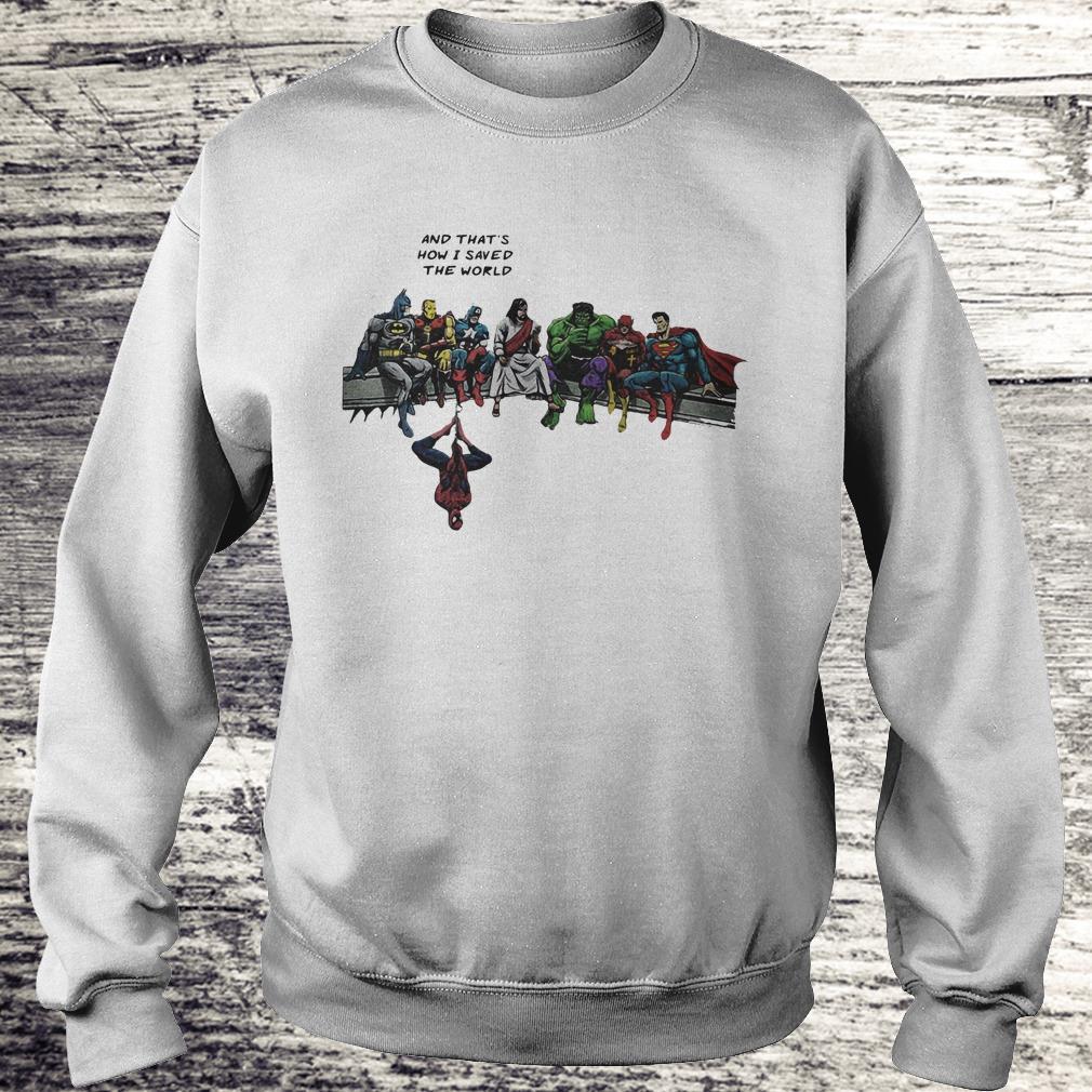 Jesus And Superheroes Shirt Sweatshirt Unisex