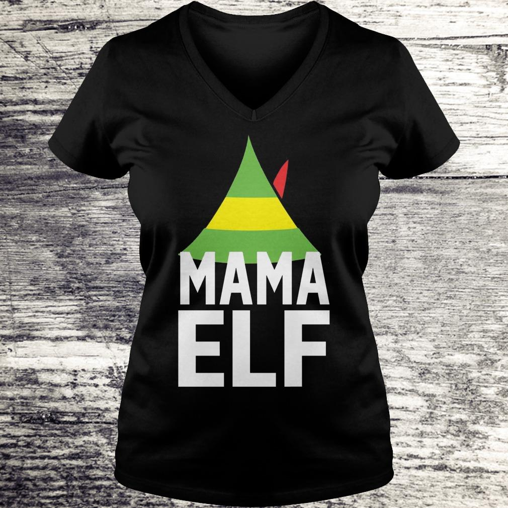 Mama Elf Buddy the elf Christmas Shirt Ladies V-Neck