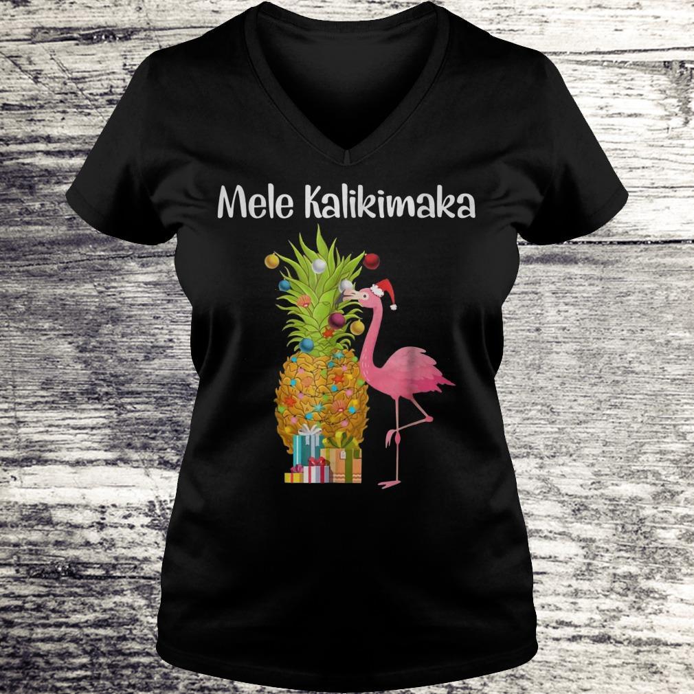 Christmas Hawaiian Shirt Womens.Mele Kalikimaka Flamingo Christmas Pineapple Hawaiian Shirt