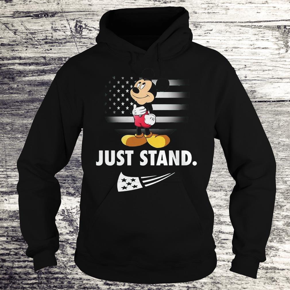 Mickey Disney American Flag Just Stand Shirt Hoodie