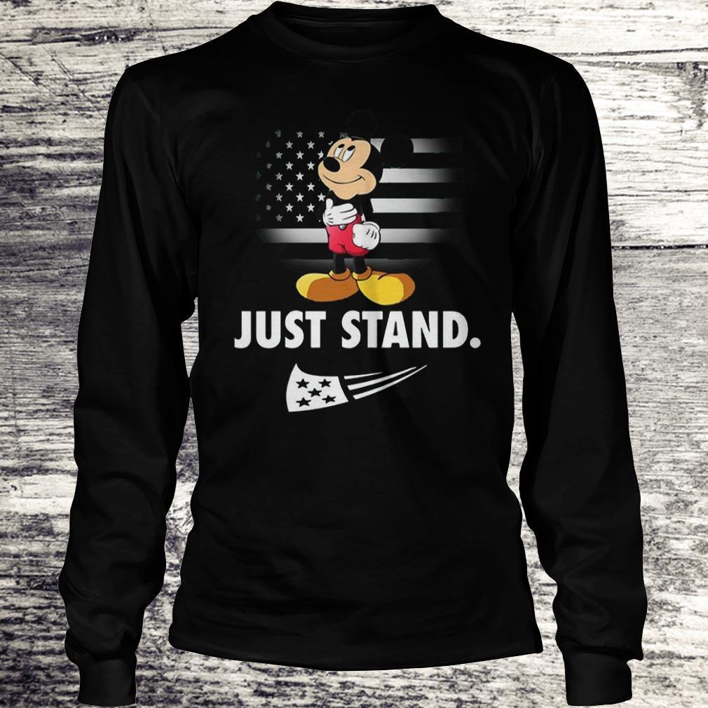 Mickey Disney American Flag Just Stand Shirt Longsleeve Tee Unisex
