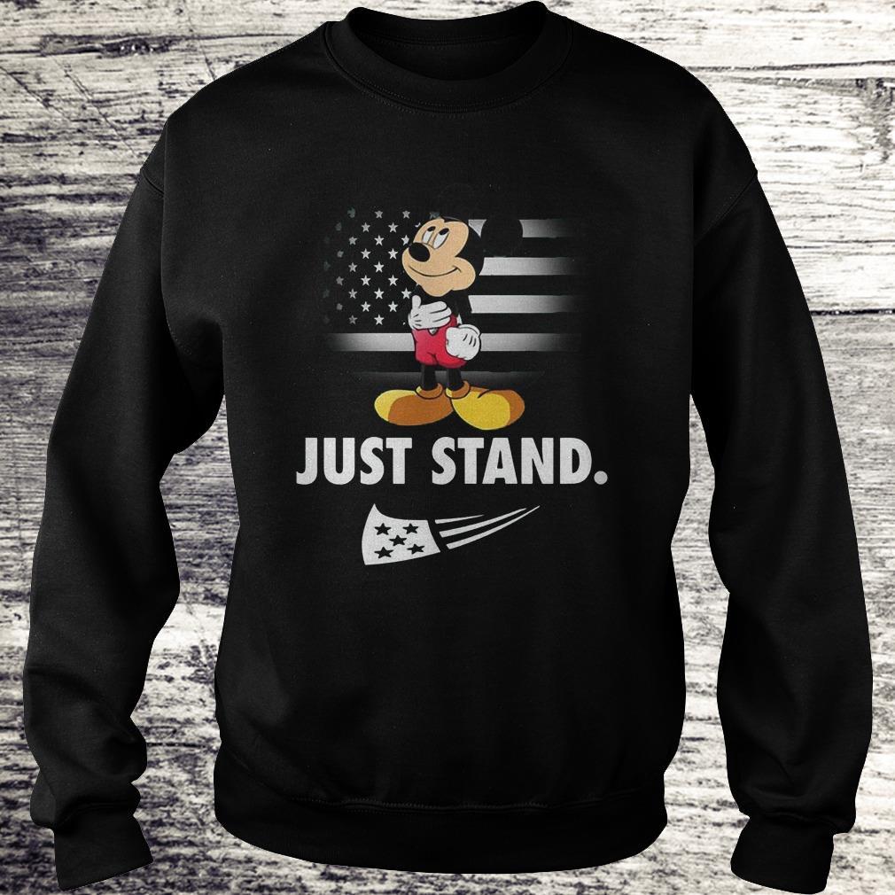 Mickey Disney American Flag Just Stand Shirt Sweatshirt Unisex