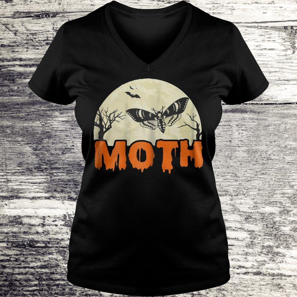 Moth Halloween Costume Sarcastic Meme Couple Shirt Ladies V-Neck