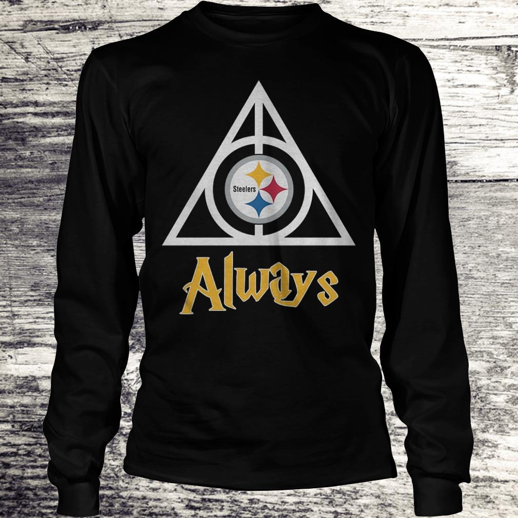 NFL Pittsburgh Steelers Deathly Hallows Always Harry Potter Shirt Longsleeve Tee Unisex