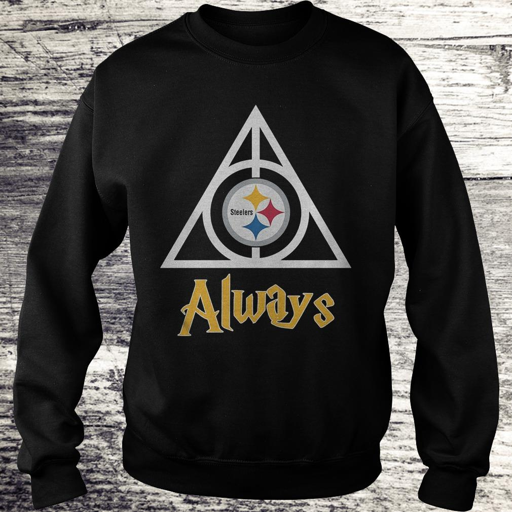 NFL Pittsburgh Steelers Deathly Hallows Always Harry Potter Shirt Sweatshirt Unisex