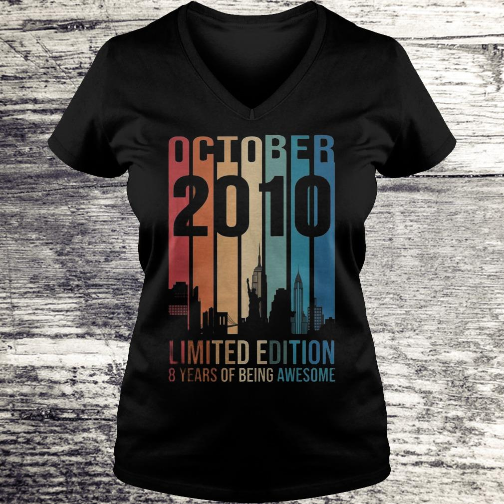 October 2010 Limited Edition 8 Years Of Being Awesome Sweatshirt Ladies V-Neck