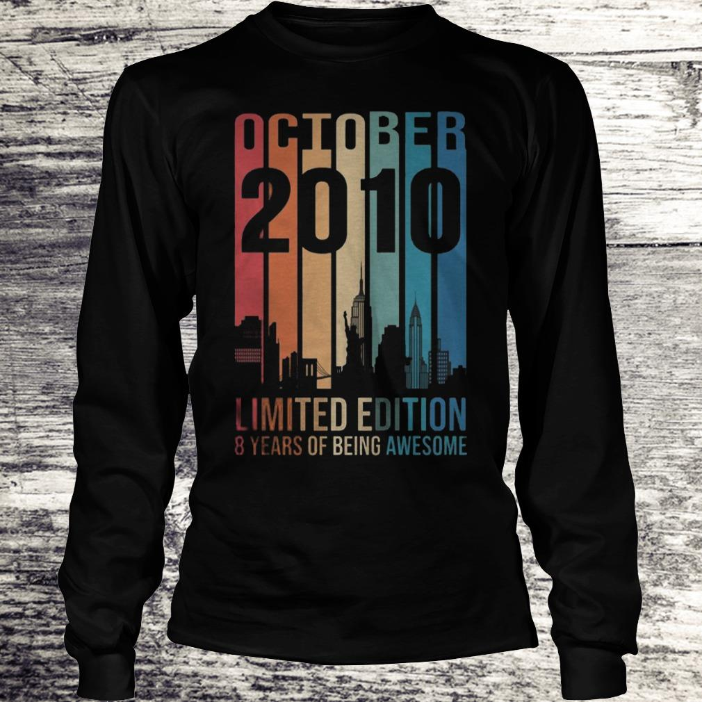 October 2010 Limited Edition 8 Years Of Being Awesome Sweatshirt Longsleeve Tee Unisex