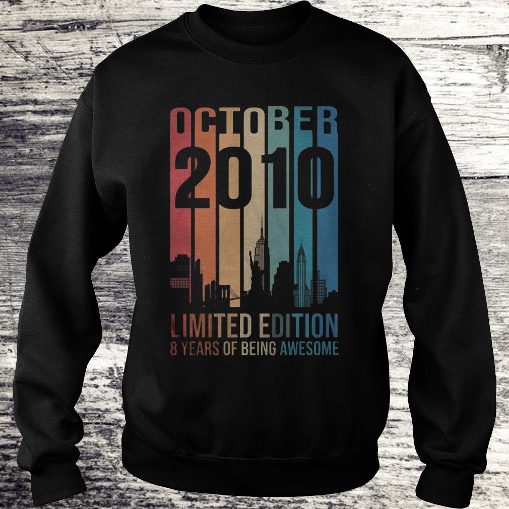 October 2010 Limited Edition 8 Years Of Being Awesome Sweatshirt Sweatshirt Unisex