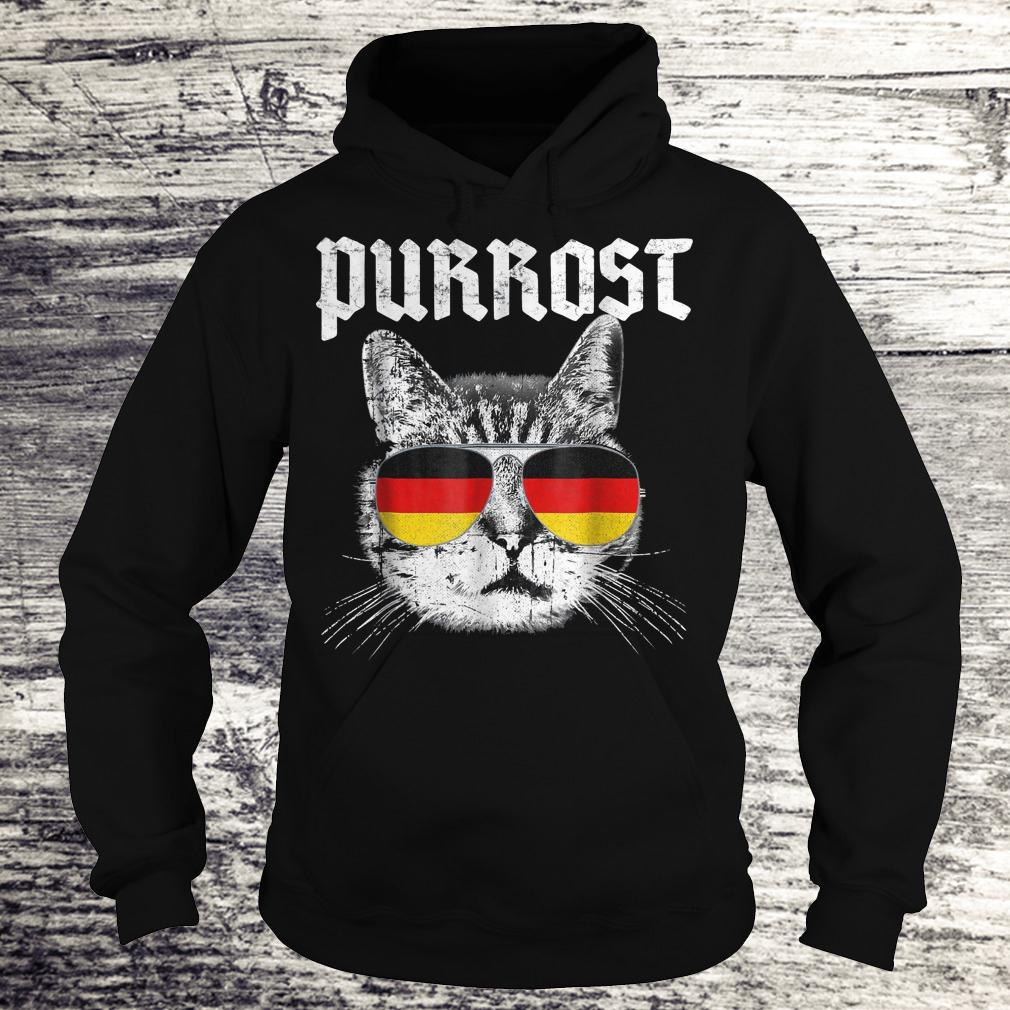 Official Purrost funny cat prost German flag Shirt Hoodie