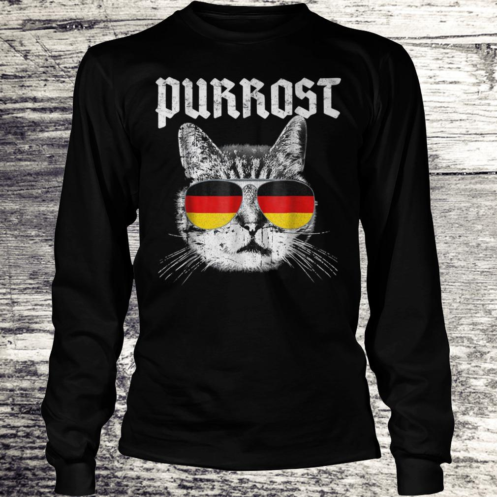 Official Purrost funny cat prost German flag Shirt Longsleeve Tee Unisex