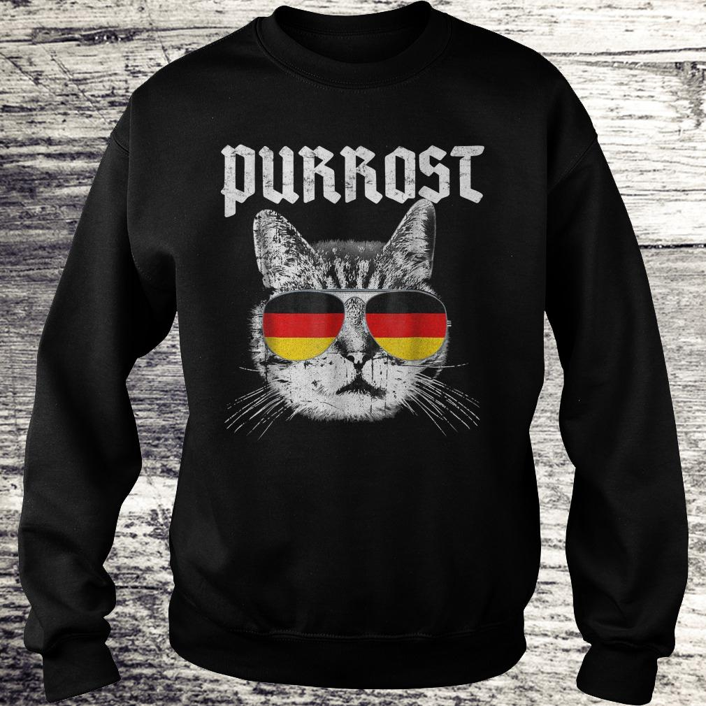 Official Purrost funny cat prost German flag Shirt Sweatshirt Unisex