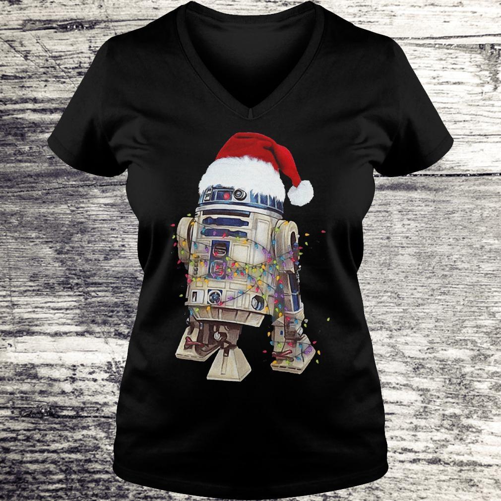 Original Christmas Artoo Detoo Star Wars Shirt Ladies V-Neck