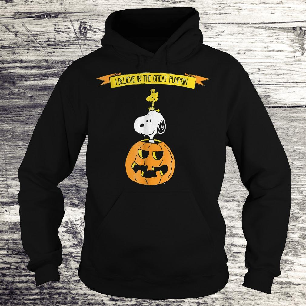 Original Halloween I believe in the great pumpkin Snoopy Peanuts Shirt Hoodie