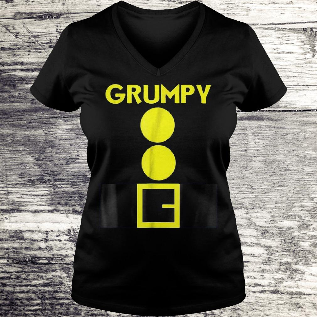 Original Halloween dwarf matching group Grumpy Shirt Ladies V-Neck