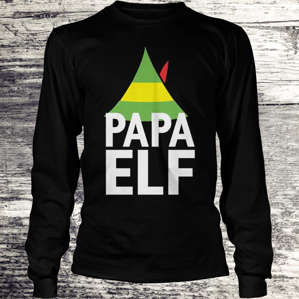 Papa Elf Buddy the elf Christmas Shirt Longsleeve Tee Unisex