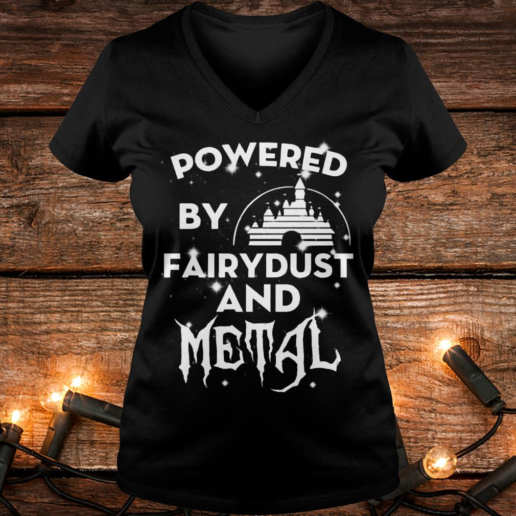 Powered by fairydust and metal Shirt Ladies V-Neck