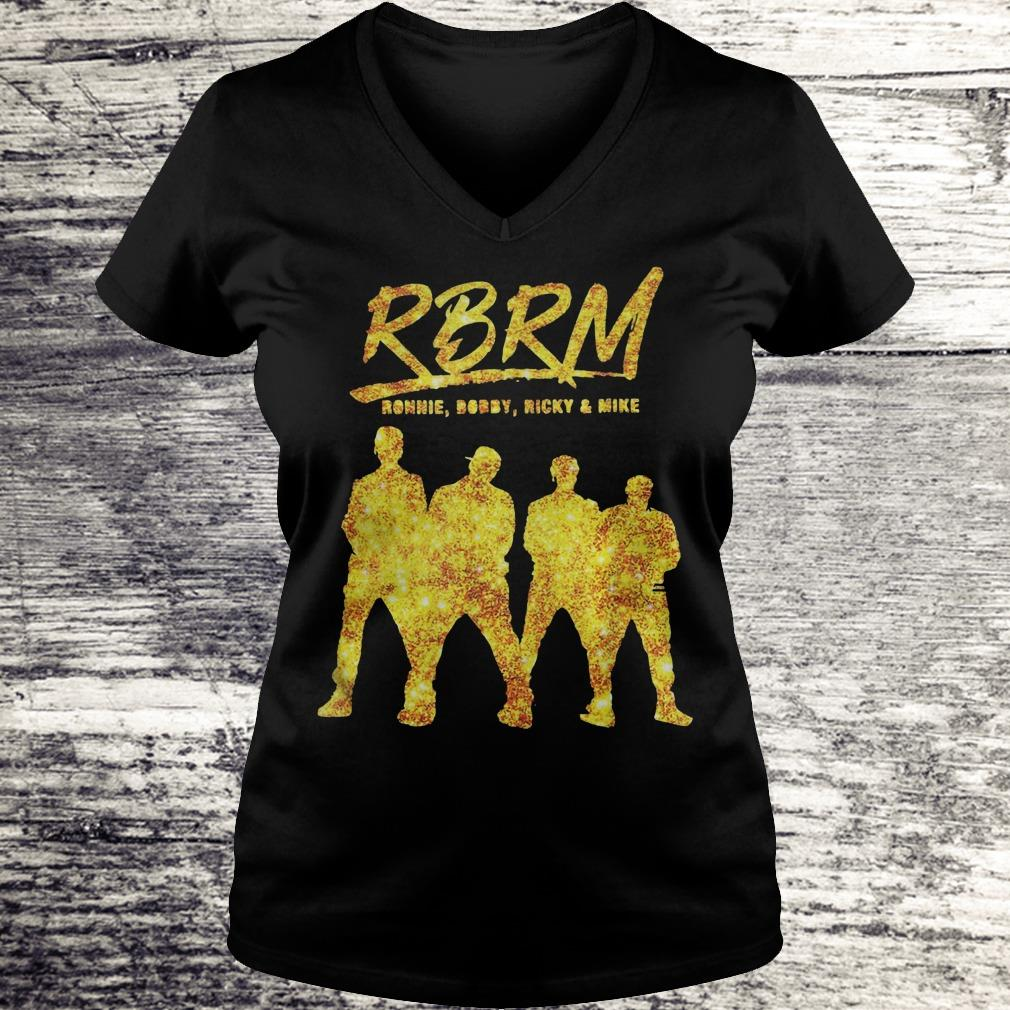RBRM Ronnie Bobby Ricky & Mike gold Shirt Ladies V-Neck