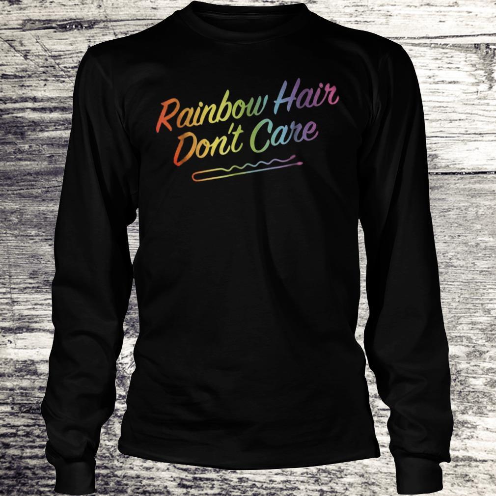 Rainbow Hair Don't Care Rainbow Hairclip Sweatshirt Longsleeve Tee Unisex