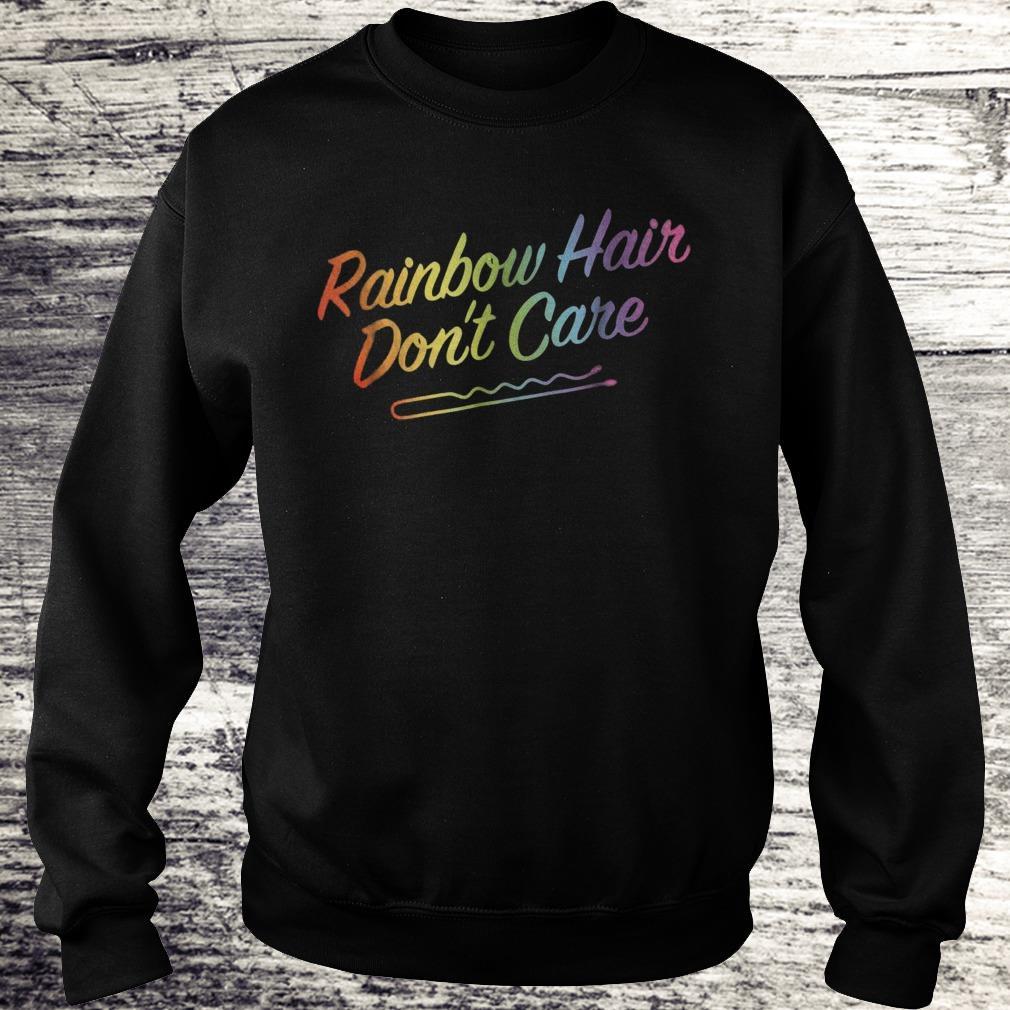 Rainbow Hair Don't Care Rainbow Hairclip Sweatshirt