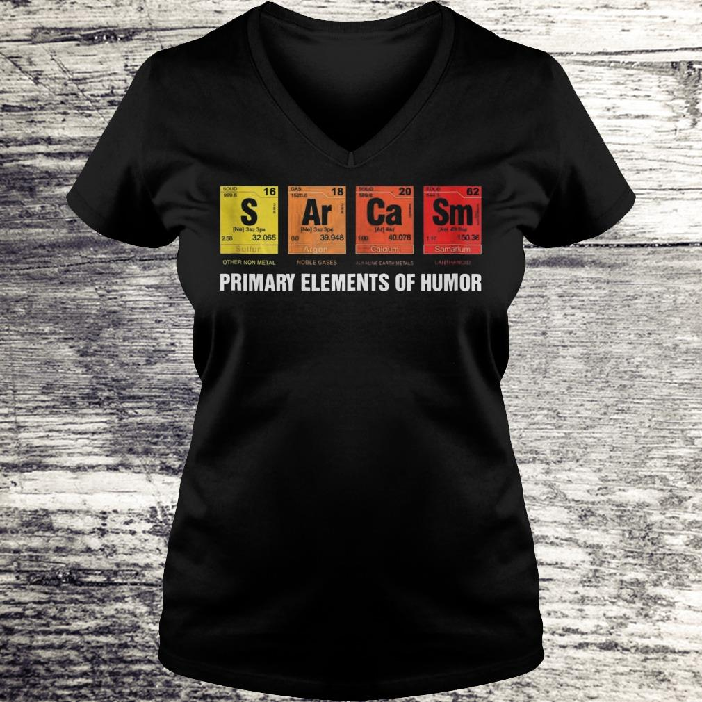 S Ar Ca Sm Primary Elements Of Humor Sweatshirt Ladies V-Neck