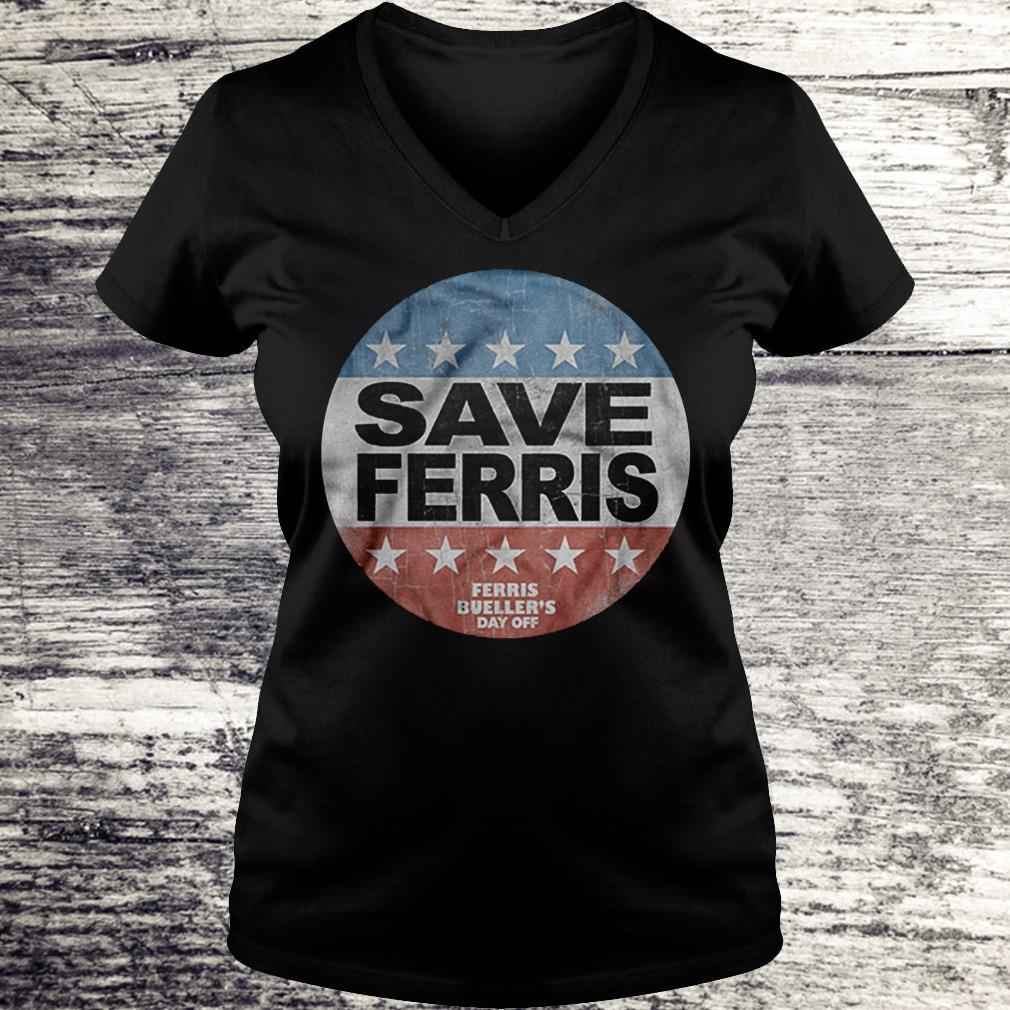 Save Ferris Ferris Bueller's Day Off Logo Version Shirt Ladies V-Neck