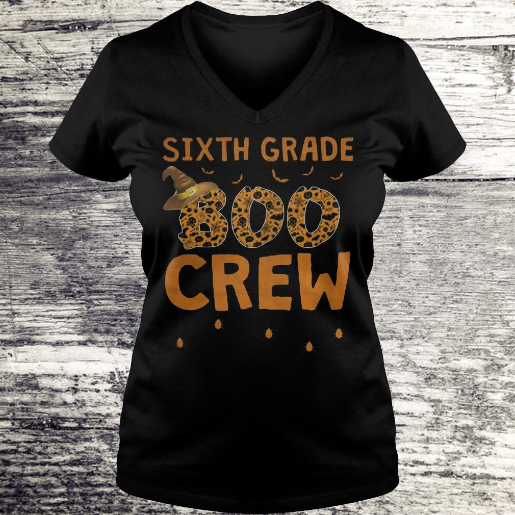 Sixth Grade Boo Crew Sweatshirt Ladies V-Neck