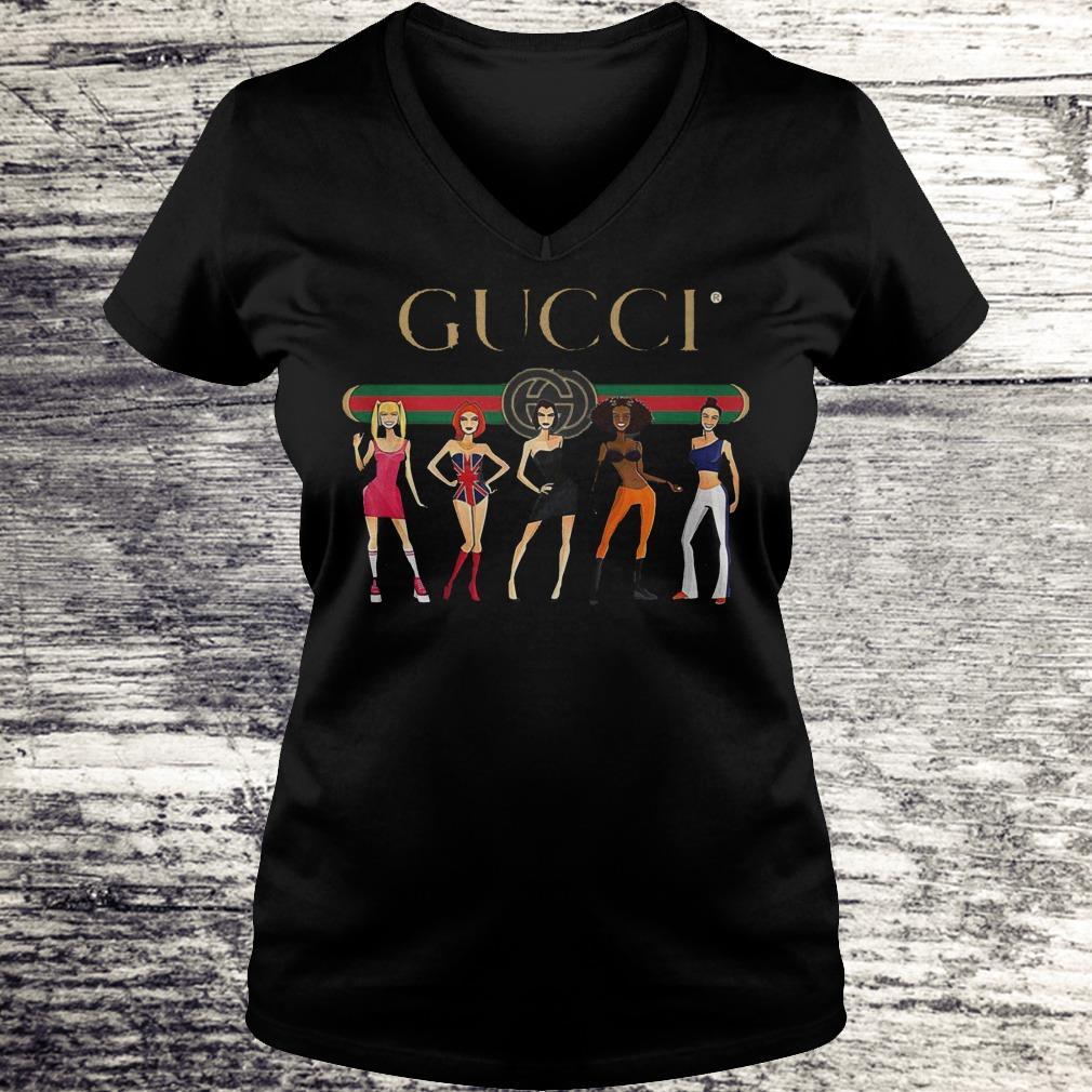 Spice Girls Gucci Style Shirt Ladies V-Neck